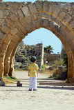 Boy in Caesarea Royalty Free Stock Images