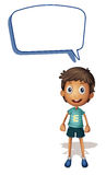 A boy and call out. Illustration of a boy and call out on a white background Stock Photos