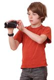 Boy with camcorder Stock Photo