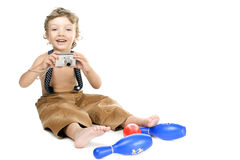 Boy with camera Royalty Free Stock Image