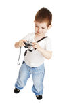 Boy with the camera Stock Images
