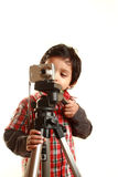 Boy and a camera Royalty Free Stock Photos