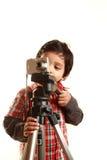 Boy and a camera Royalty Free Stock Photos