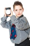 Boy and camera Royalty Free Stock Images