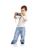 boy camera Royaltyfria Bilder