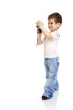 Boy with the camera Royalty Free Stock Photos