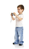Boy with the camera Stock Photos