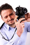 Boy with camera Royalty Free Stock Photography