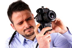Boy with camera Royalty Free Stock Photo