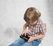 Boy with a camera Royalty Free Stock Photography