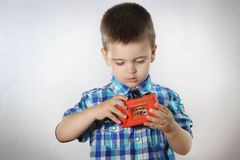 Boy with camera Stock Photo