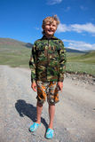 Boy camouflage Royalty Free Stock Photo
