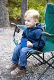 Boy camping Royalty Free Stock Images