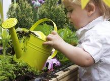 boy can watering Στοκ εικόνα με δικαίωμα ελεύθερης χρήσης