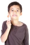 Boy and candy Royalty Free Stock Images