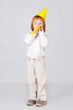 Boy with candy Stock Photos
