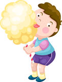 Boy with candy floss vector Stock Photos