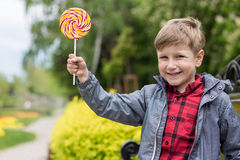 Boy with candy Royalty Free Stock Photo
