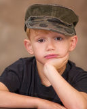 Boy in Cap Royalty Free Stock Photo