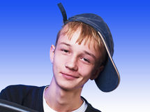 Boy with cap Stock Photos