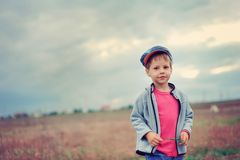 The boy in a cap Stock Photography