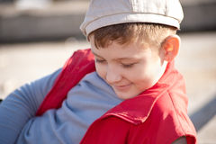 Boy in a cap Royalty Free Stock Photography