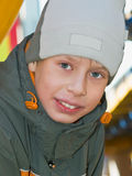 Boy in cap Stock Image