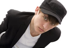 Boy with Cap Stock Images