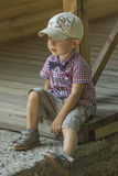 Boy in a cap Royalty Free Stock Image
