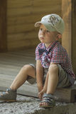 Boy in a cap Stock Photo