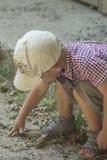 Boy in a cap Stock Image