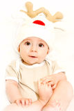 Boy in cap deer Royalty Free Stock Photography