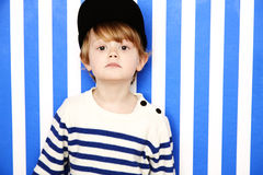 Boy in cap portrait Royalty Free Stock Photography