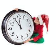 Boy in cap of Santa Claus Royalty Free Stock Image