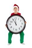 Boy in cap of Santa Claus Royalty Free Stock Photos