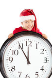 Boy in cap of Santa Claus Royalty Free Stock Images