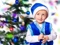 Boy in a cap of Santa Claus Stock Photography
