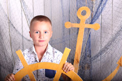 Boy - capitan Royalty Free Stock Photo