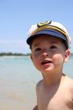 Boy Captain Stock Photo