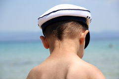 Boy Captain Royalty Free Stock Photos