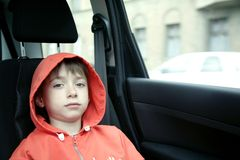 Boy in car Stock Photos