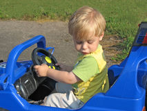 Boy in the car Royalty Free Stock Photos