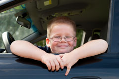 Boy car driver Royalty Free Stock Photography