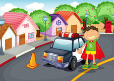 A boy and car Royalty Free Stock Photo