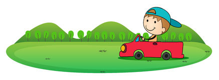 Boy and car Stock Photos