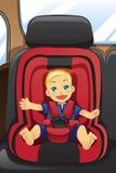 Boy in car seat royalty free illustration
