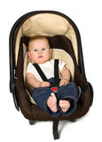 Boy in car seat, safety concept Stock Photography