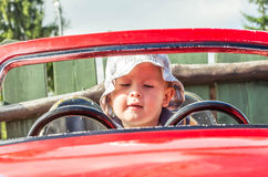 Boy in the car Stock Photography
