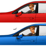 Boy in car Royalty Free Stock Photography