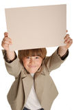 Boy with card Royalty Free Stock Photo